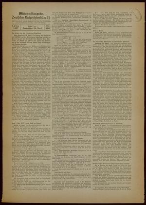 Deutsches Nachrichtenbüro vom 29.04.1937