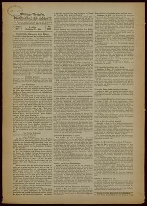 Deutsches Nachrichtenbüro vom 11.05.1937