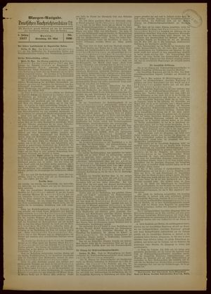 Deutsches Nachrichtenbüro vom 25.05.1937