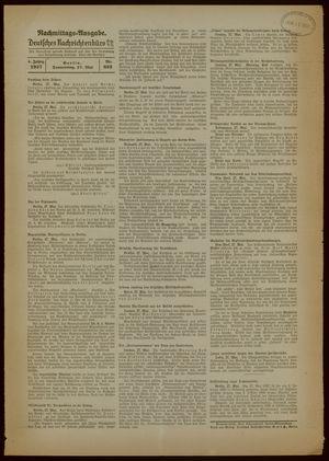 Deutsches Nachrichtenbüro vom 27.05.1937