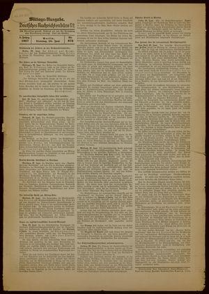 Deutsches Nachrichtenbüro vom 29.06.1937