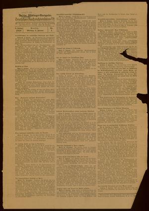 Deutsches Nachrichtenbüro vom 03.01.1938