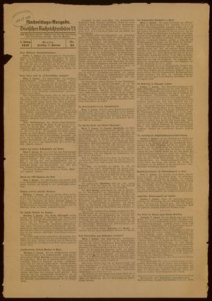 Deutsches Nachrichtenbüro vom 07.01.1938