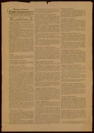 Deutsches Nachrichtenbüro vom 08.01.1938