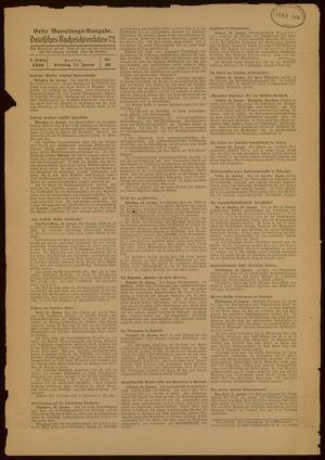 Deutsches Nachrichtenbüro on Jan 11, 1938