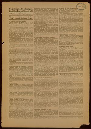 Deutsches Nachrichtenbüro vom 12.01.1938