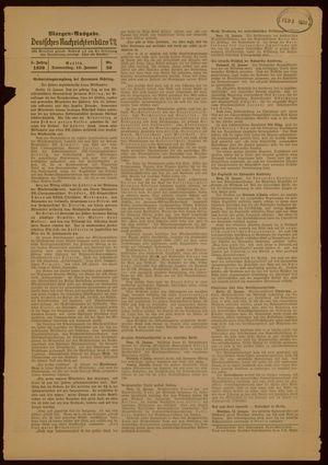 Deutsches Nachrichtenbüro vom 13.01.1938