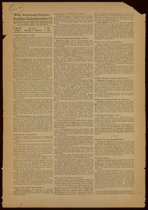 Deutsches Nachrichtenbüro vom 17.01.1938
