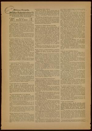 Deutsches Nachrichtenbüro vom 19.01.1938