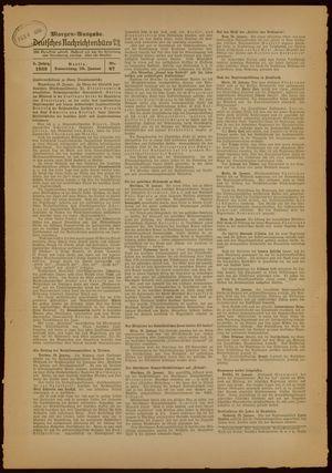 Deutsches Nachrichtenbüro vom 20.01.1938