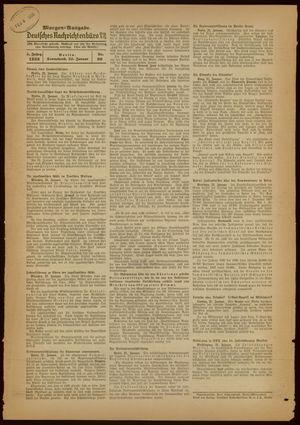 Deutsches Nachrichtenbüro vom 22.01.1938
