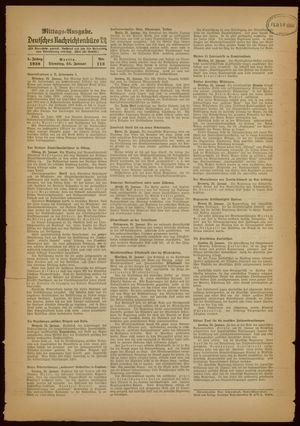 Deutsches Nachrichtenbüro vom 25.01.1938