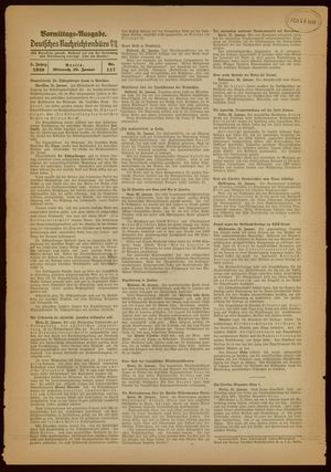 Deutsches Nachrichtenbüro vom 26.01.1938