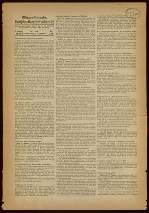 Deutsches Nachrichtenbüro vom 27.01.1938