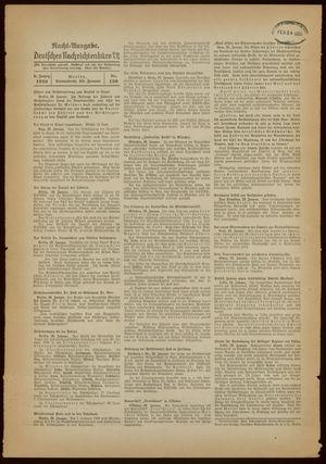 Deutsches Nachrichtenbüro vom 29.01.1938