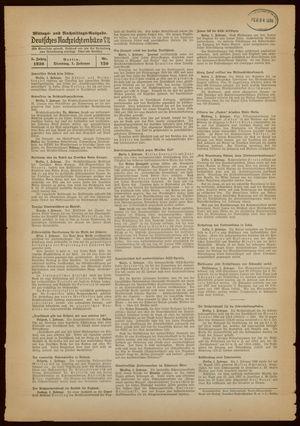 Deutsches Nachrichtenbüro vom 01.02.1938