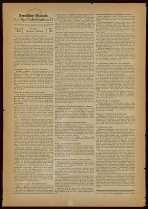 Deutsches Nachrichtenbüro vom 07.02.1938