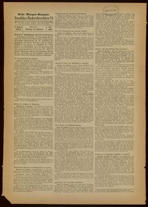 Deutsches Nachrichtenbüro on Feb 14, 1938