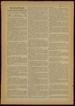 Deutsches Nachrichtenbüro vom 16.02.1938