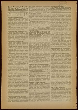 Deutsches Nachrichtenbüro vom 17.02.1938