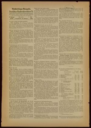 Deutsches Nachrichtenbüro vom 19.02.1938