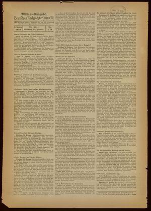 Deutsches Nachrichtenbüro vom 23.02.1938