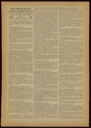 Deutsches Nachrichtenbüro vom 26.02.1938