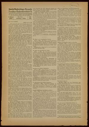 Deutsches Nachrichtenbüro vom 01.03.1938