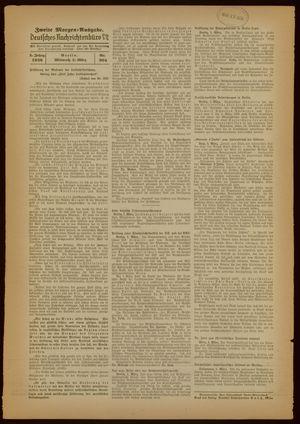 Deutsches Nachrichtenbüro vom 02.03.1938