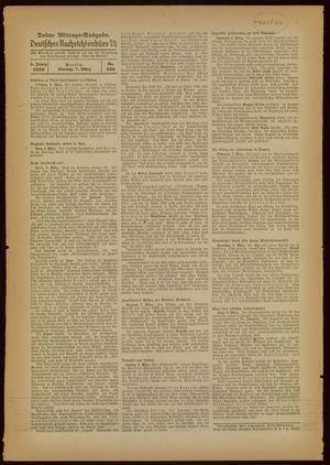 Deutsches Nachrichtenbüro vom 07.03.1938