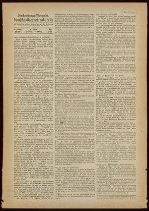 Deutsches Nachrichtenbüro vom 11.03.1938