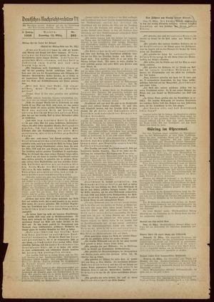 Deutsches Nachrichtenbüro vom 13.03.1938
