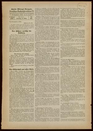 Deutsches Nachrichtenbüro vom 15.03.1938