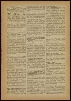 Deutsches Nachrichtenbüro vom 21.03.1938