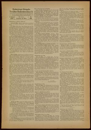 Deutsches Nachrichtenbüro vom 29.03.1938