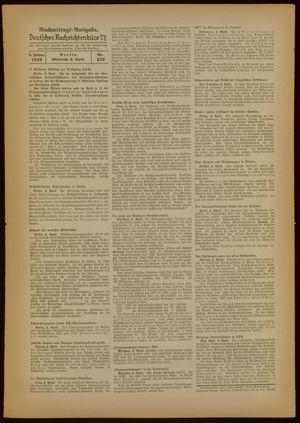 Deutsches Nachrichtenbüro vom 06.04.1938