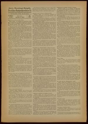 Deutsches Nachrichtenbüro vom 08.04.1938