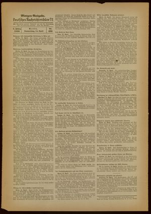 Deutsches Nachrichtenbüro on Apr 14, 1938