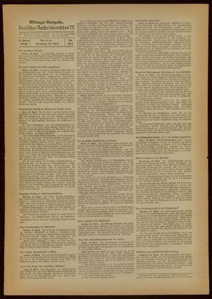 Deutsches Nachrichtenbüro vom 19.04.1938