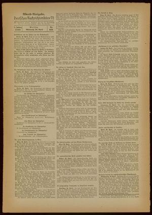 Deutsches Nachrichtenbüro vom 20.04.1938