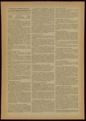 Deutsches Nachrichtenbüro vom 22.04.1938