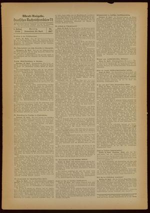 Deutsches Nachrichtenbüro vom 23.04.1938
