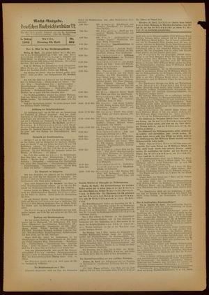 Deutsches Nachrichtenbüro vom 26.04.1938