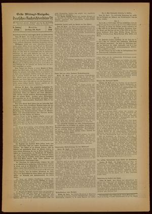Deutsches Nachrichtenbüro vom 29.04.1938