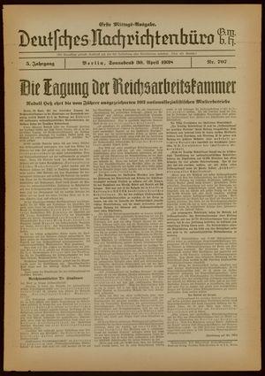 Deutsches Nachrichtenbüro vom 30.04.1938