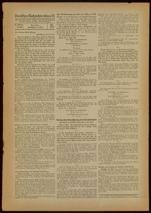 Deutsches Nachrichtenbüro vom 01.05.1938