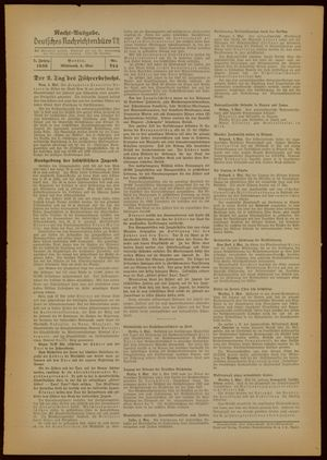 Deutsches Nachrichtenbüro vom 04.05.1938