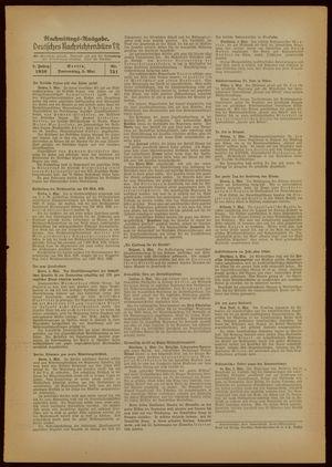 Deutsches Nachrichtenbüro vom 05.05.1938