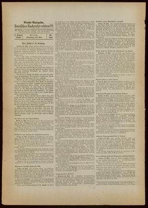Deutsches Nachrichtenbüro on May 10, 1938