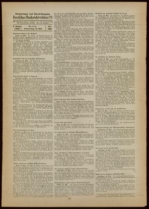 Deutsches Nachrichtenbüro vom 12.05.1938
